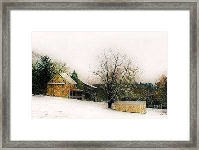 Framed Print featuring the photograph Historic 1700's Farmhouse by Polly Peacock