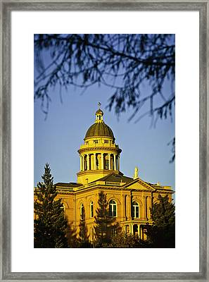 Framed Print featuring the photograph Historic Auburn Courthouse 5 by Sherri Meyer