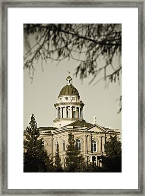 Framed Print featuring the photograph Historic Auburn Courthouse 6 by Sherri Meyer