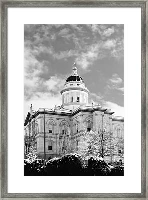 Framed Print featuring the photograph Historic Auburn Courthouse 8 by Sherri Meyer