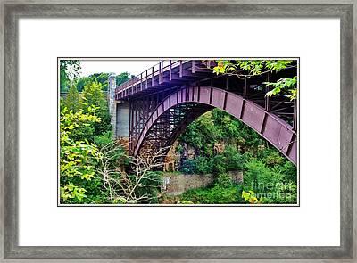 Historic Ausable Chasm Bridge Framed Print by Patti Whitten