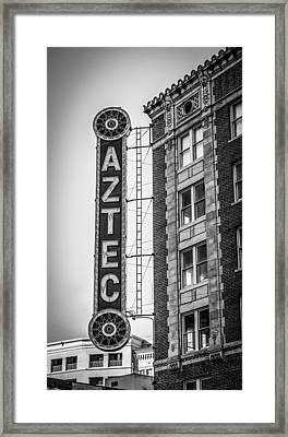 Historic Aztec Theater Framed Print
