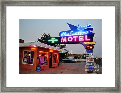 Framed Print featuring the photograph Historic Blue Swallow by Utopia Concepts
