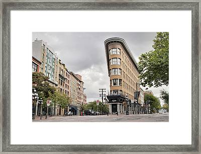 Historic Buildings In Gastown Vancouver Bc Framed Print by David Gn