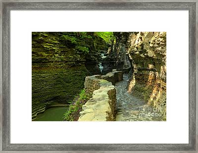 Historic Canyon Trail Framed Print by Adam Jewell