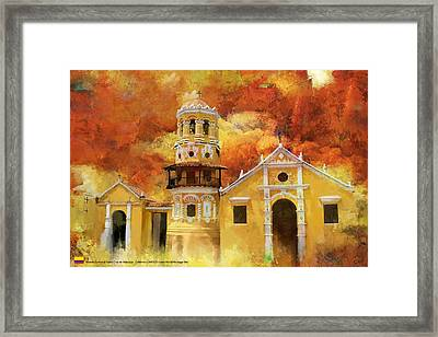 Historic Center Of Santa Cruz De Mompox Framed Print by Catf