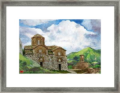 Historic Centers Of Berat And Gjirokastra Framed Print by Catf