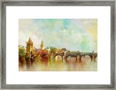Historic Centre Of Prague  Framed Print by Catf