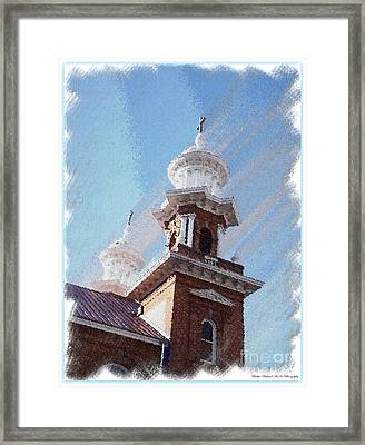 Historic Church Steeples Framed Print