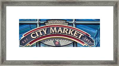 Historic City Market Sign  Framed Print