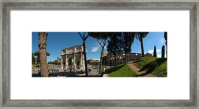 Historic Coliseum And Arch Framed Print
