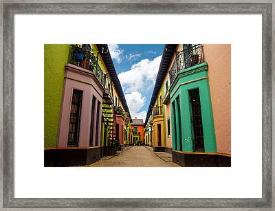 Historic Colorful Buildings Framed Print