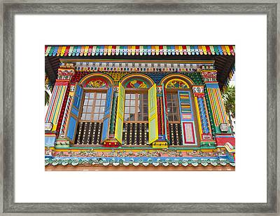 Historic Colorful Peranakan House Framed Print by David Gn