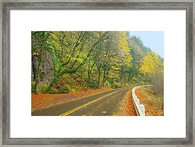 Historic Columbia Gorge Highway Framed Print