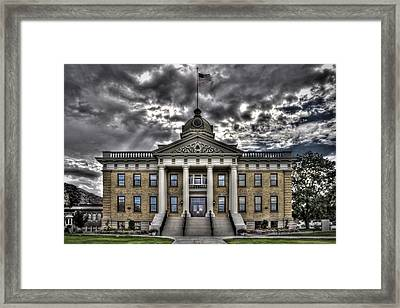 Historic Courthouse Framed Print by Jim Speth