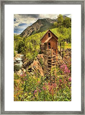 Historic Crystal Colorado Framed Print by Adam Jewell