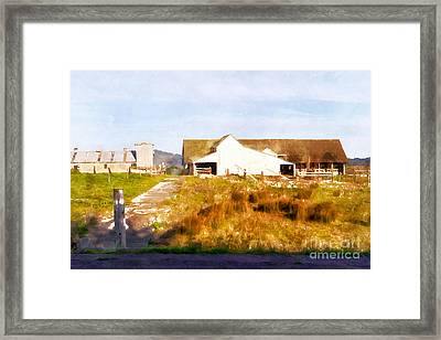 Historic D Ranch In Point Reyes California Dsc2399wc Framed Print by Wingsdomain Art and Photography