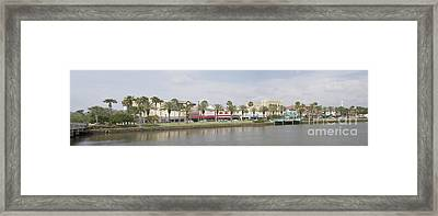Historic Daytona Florida Pano Framed Print