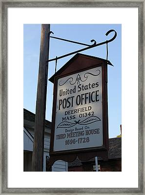 Historic Deerfield Post Office Framed Print by DustyFootPhotography