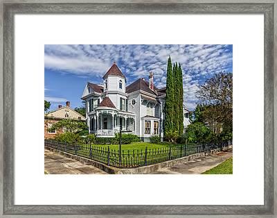 Historic District Home - Natchez Framed Print by Frank J Benz