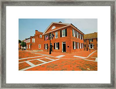 Historic District Of Charlottesville Framed Print