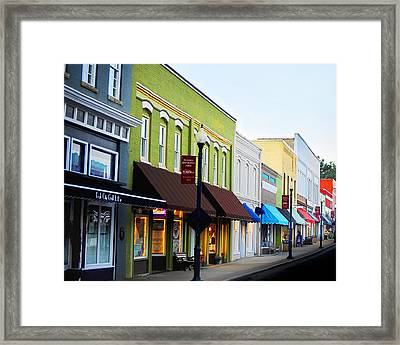 Historic Downtown Apex Framed Print