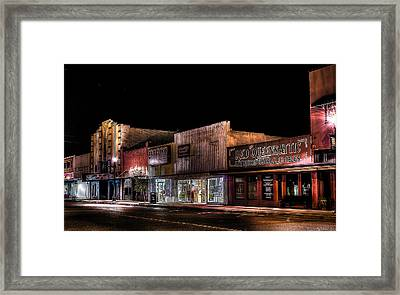 Historic Downtown Rosenberg Framed Print by David Morefield