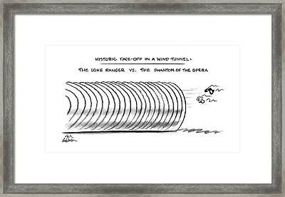 Historic Face-off In A Wind Tunnel: The Lone Framed Print