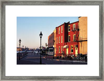 Historic Fells Point Framed Print
