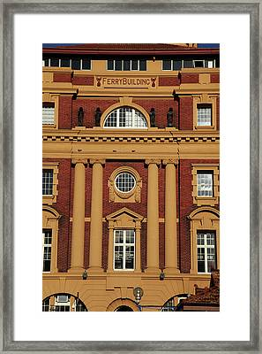 Historic Ferry Building, Auckland Framed Print