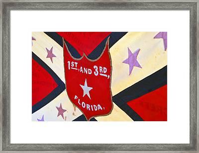 Historic Florida Flag Framed Print by David Lee Thompson