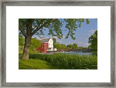 Historic Flour Mill By A River Framed Print