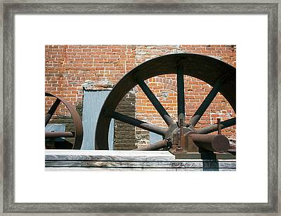 Historic Flour Mill Machinery Framed Print
