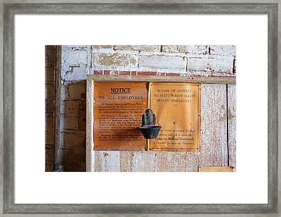 Historic Flour Mill Notice Framed Print