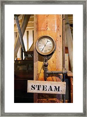 Historic Flour Mill Steam Gauge Framed Print by Jim West