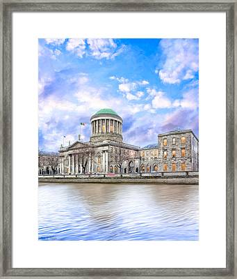 Historic Four Courts In Dublin Ireland Framed Print by Mark E Tisdale