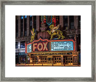 Historic Fox Theatre In Detroit Michigan Framed Print by Peter Ciro
