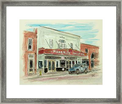 Historic Franklin Theatre Framed Print