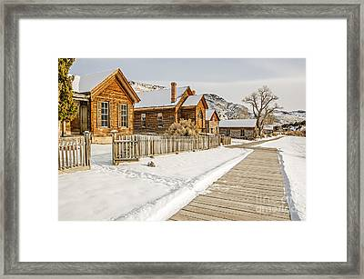 Historic Ghost Town Framed Print by Sue Smith