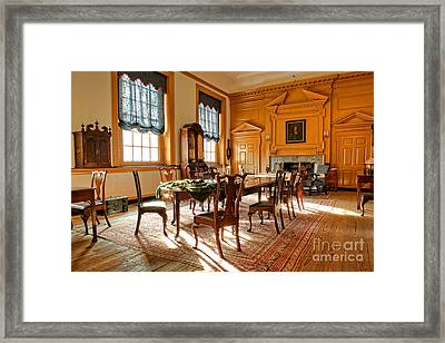 Historic Governor Council Chamber Framed Print
