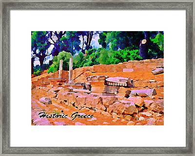 Historic Greece Framed Print by John Malone
