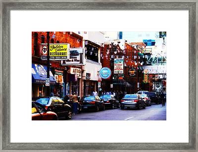 Historic Greek Town Detroit Michigan Framed Print