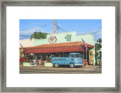 Historic Haleiwa Surf Town On The North Shore Of Oahu Framed Print