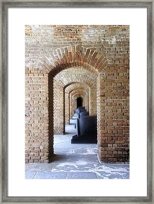 Framed Print featuring the photograph Historic Hallway by Laurie Perry
