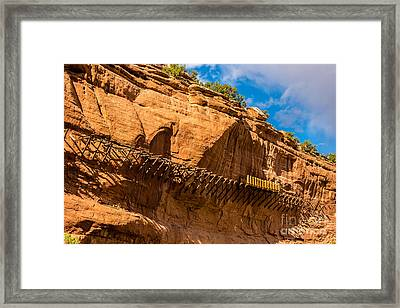Historic Hanging Flume - Dolores River - Colorado Framed Print by Gary Whitton