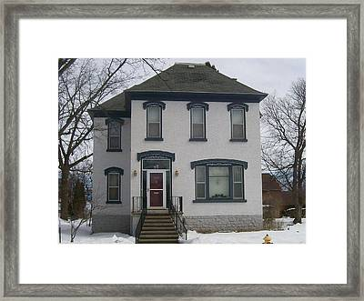 Historic Home Menominee Framed Print by Jonathon Hansen
