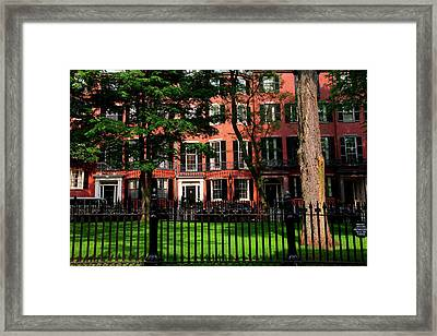 Historic Homes Of Beacon Hill, Boston Framed Print