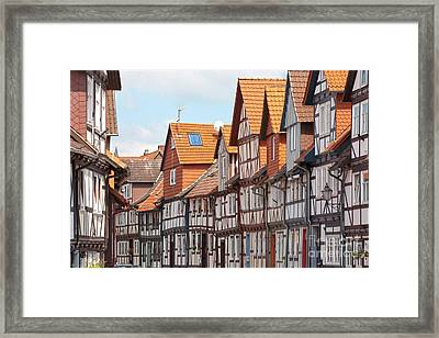 Historic Houses In Germany Framed Print by Heiko Koehrer-Wagner
