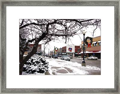 Historic Independence Main Street Framed Print