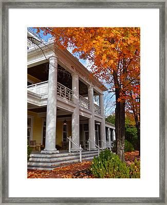 Historic Inn In Ashland Va Framed Print